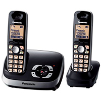 Panasonic KX-TG6522EB DECT Cordless Telephone With TAM - Twin Pack