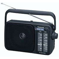 Panasonic RF-2400EB-K Portable AM/FM Radio