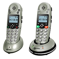 Geemarc AmpliDect 350 Amplified Cordless Phone - Twin Pack