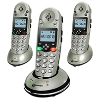 Geemarc AmpliDect 350 Amplified Cordless Phone - Triple Pack