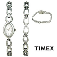 Timex UG0085 Ladies Watch Gift Box Set with Silver Bracelet