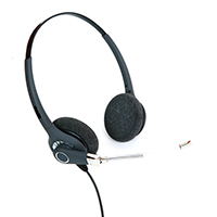 ProTelX PTX-201 Binaural Voice Tube HeadsetWith Free RJ11 Connection