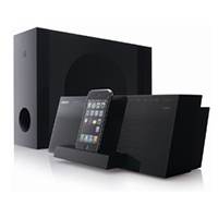 Sony AIRSW10Ti Wireless Subwoofer with iPod / iPhone Speaker Dock System