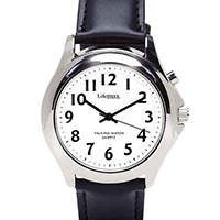 Mens Talking Watch With Leather Strap