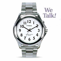 Mens Talking Watch With Steel Bracelet