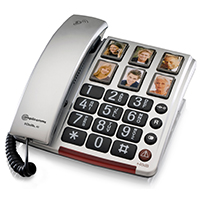 Amplicomms BigTel 40 Amplified Big Button Telephone with Programmable Photo Buttons