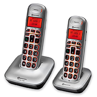 Amplicomms BigTel 1202 Amplified Big Button Cordless Telephone Twin Set