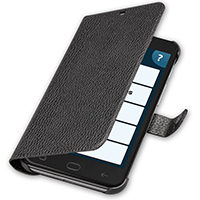 Amplicomms PowerTel M9500 Premium PU Leather Protective Flip Case