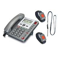 Amplicom PowerTel 97 Wireless Emergency Alarm Telephone - 2 Pendants