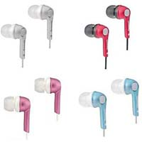Panasonic RP-HJE240E - Ear Canal Headphones in iPod Nano Colours