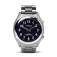 Mens Atomic Talking Watch With Metallic Strap